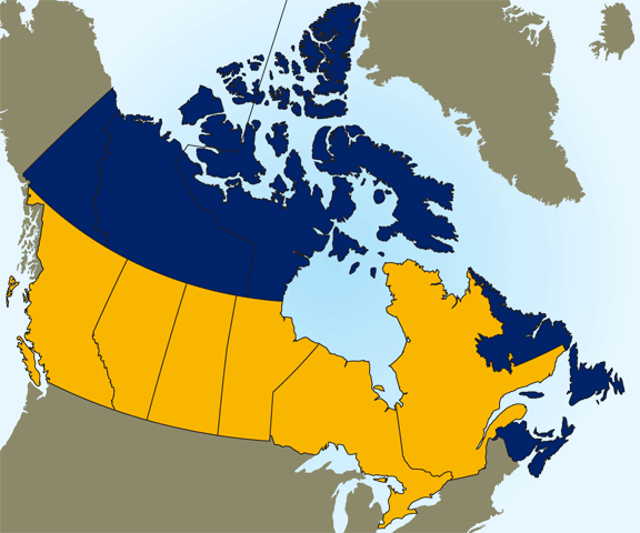 Map Canada Store Locations