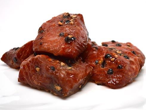 Sockeye Peppercorn Nuggets Smoked Salmon